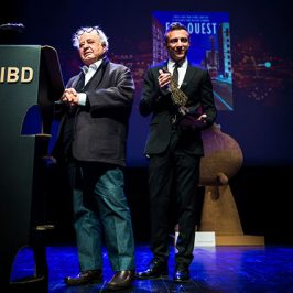 Standing ovation pour Pierre Christin lors de la remise du Prix René Goscinny