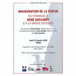INAUGURATION DE LA STATUE EN HOMMAGE A RENE GOSCINNY & A LA BANDE DESSINEE