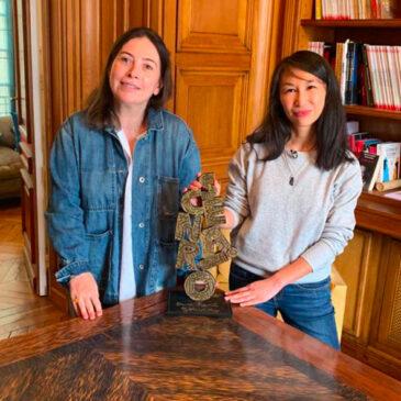 Loo Hui-Phang à l'Institut René Goscinny pour la remise du trophée Prix René Goscinny 2021