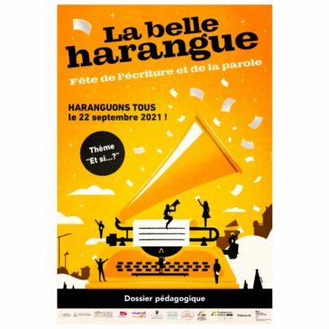 Première édition de la Fête de l'écriture et de la parole – La Belle Harangue
